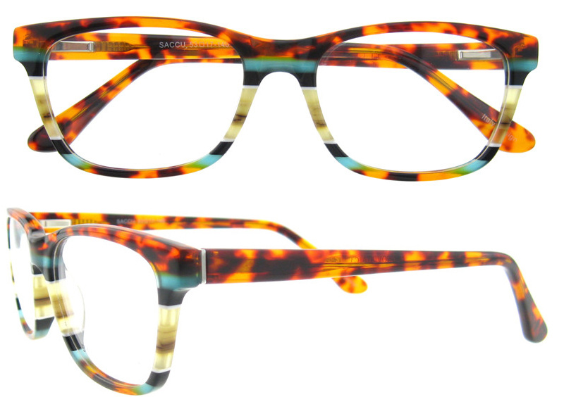 Fashion Acetate Eyewear Frame for Women with Ce Provided
