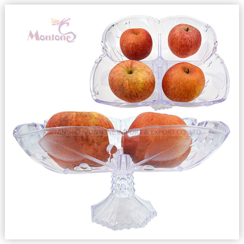 469g Plastic Fruit Plate/Dish, Fruit Serving Tray, Fruit Bowl