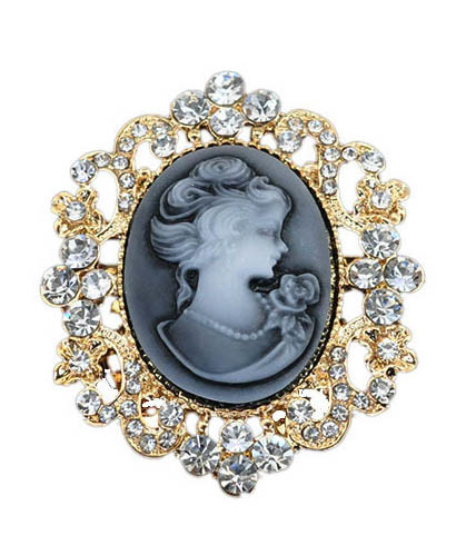 VAGULA Europen Fashion Head Portrait Brooch