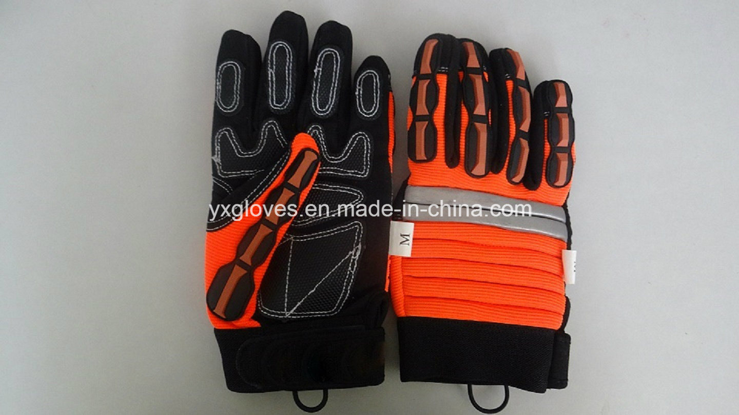 Mechanic Glove-Work Glove-Safety Glove-Hi-Vis Anti-Vibration Work Gloves -Heavy Duty Glove