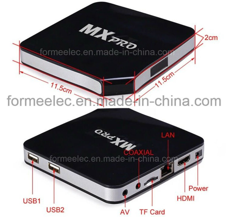 Android TV Box Mxpro S805 1GB8GB with Quad-Core Bt 4k H265