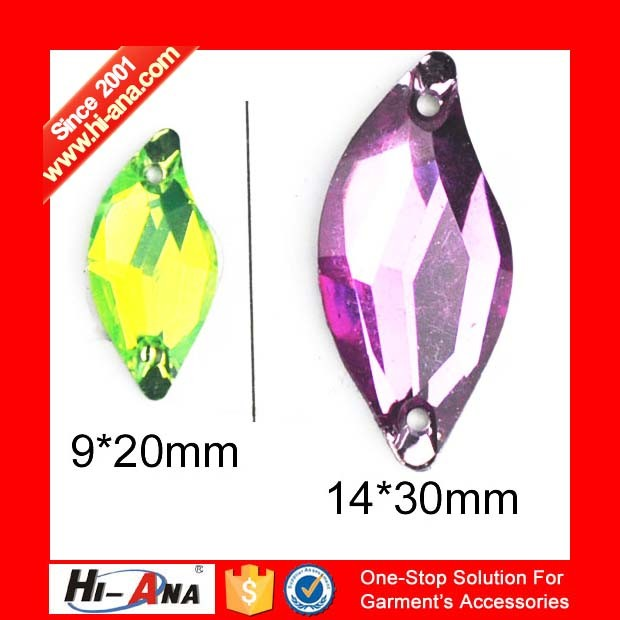 Cooperate with Brand Companies Various Colors Rhinestone Appliques to Sew