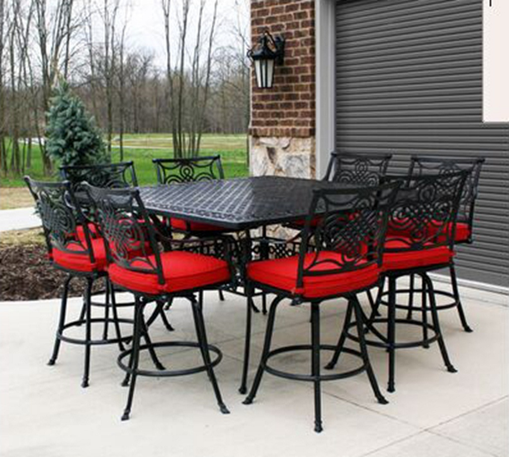 Leisure Dynasty 9 PC High Dining Set Garden Furniture