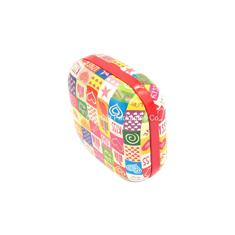 Small New Square Colorful Jewelry Tin Box (S001-V11)