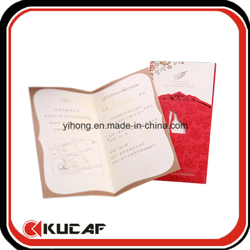 Custom Printing Nice Greeting Invitation Card with Envelope