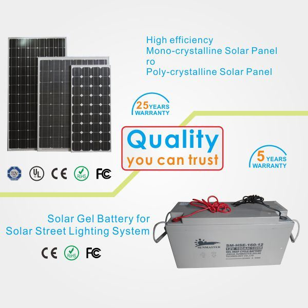 Factory Direct IP65 Bridgelux 30W Solar LED Street Lighting System Price