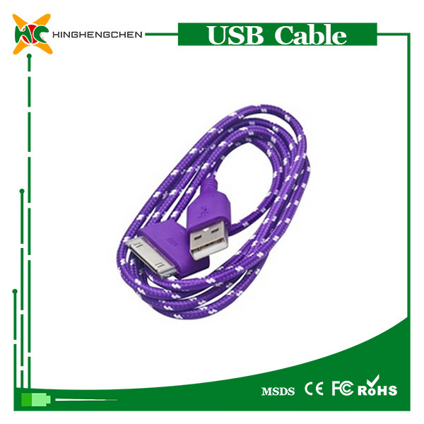 Hot Alloy Nylon Braided USB Cable for iPhone 4