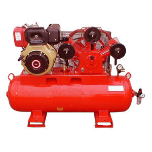 Small Type Diesel Driven Portable Postion Air Compressor