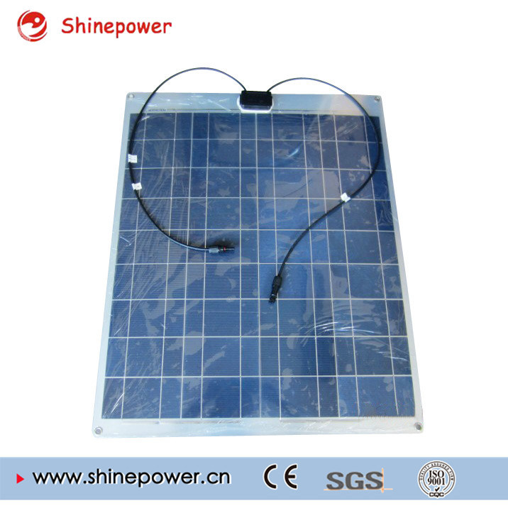 80W Poly Aluminum Semi Flexible Solar Module