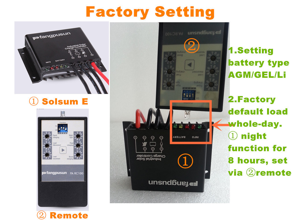 Solar Energy Street Light System 360W Waterproof 15A Intelligent PWM Mini Solar Charge Controller 12V 24V