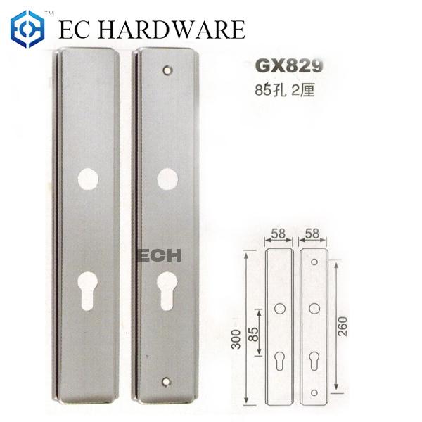 Room Door Stainless Steel Door Handle Plate (GX829)