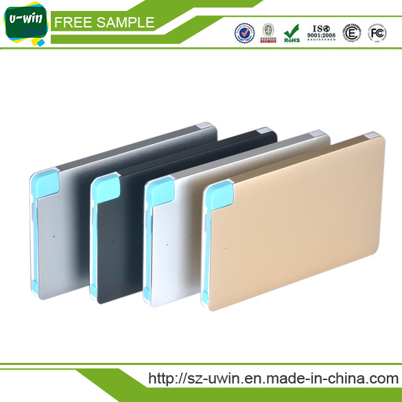 Best Selling Mobile Phone Charger 2600mAh Credit Card Power Bank