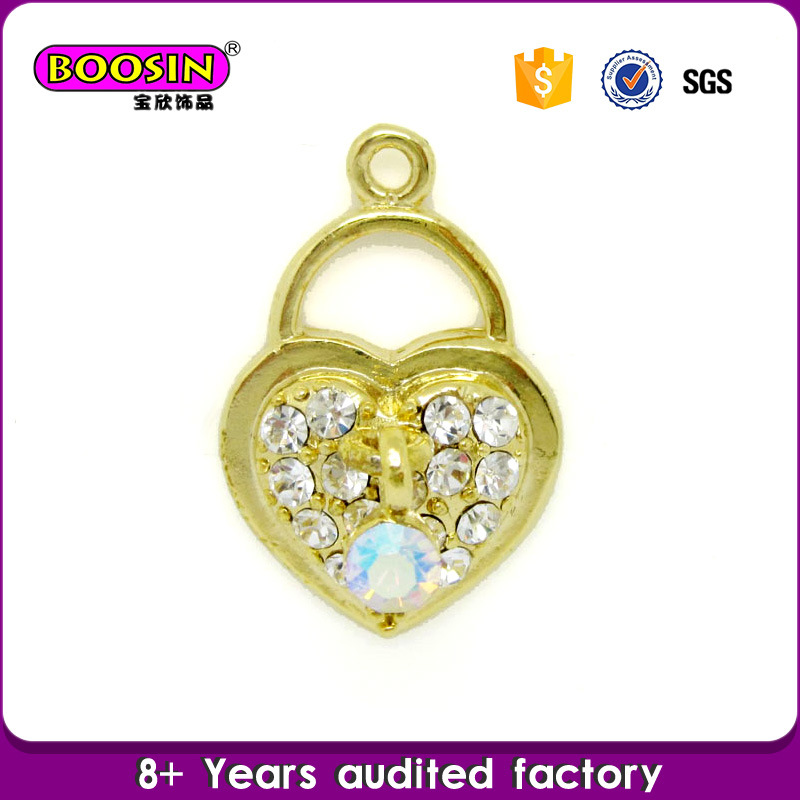 Guangzhou Wholesale Alloy Rhinestone Football Charm Jewelry