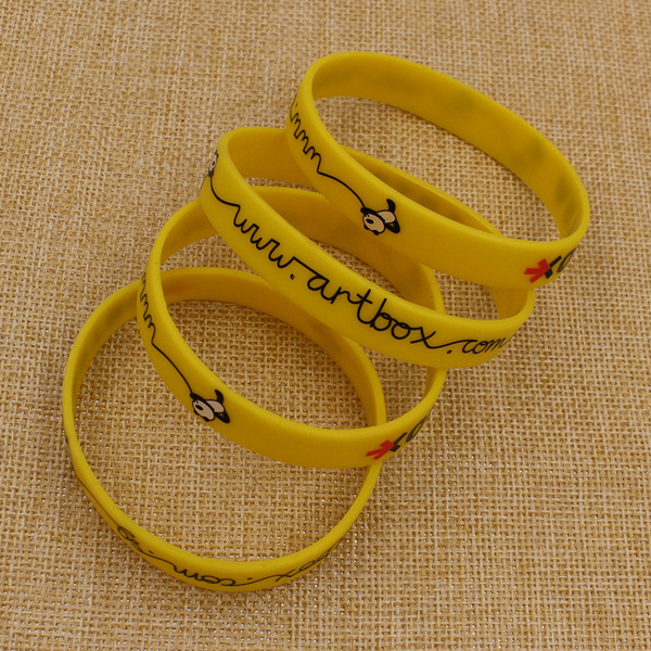 Wholesale Bulk Cheap Custom Printing Silicone Bracelet