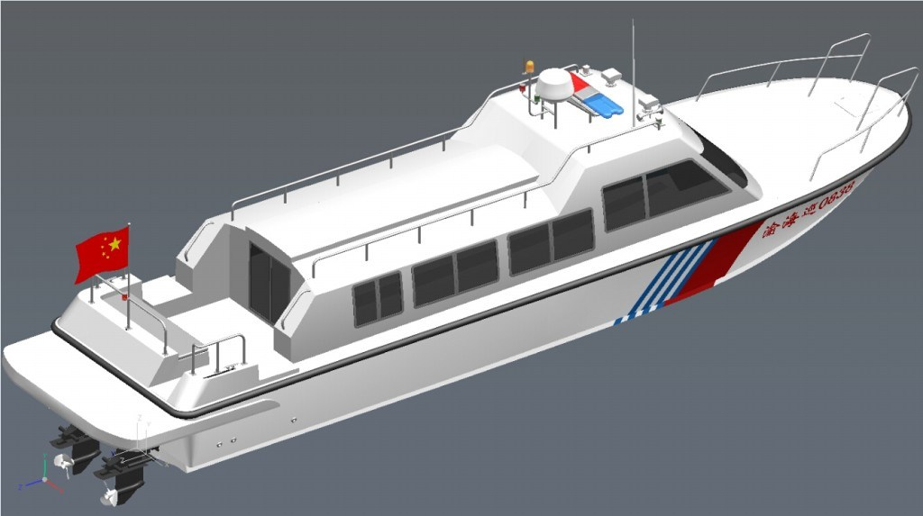 12meters Cabin Patrol Fibergalss Boat