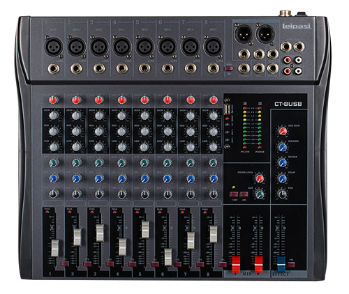 8 Channel Professional Audio Mixer M8