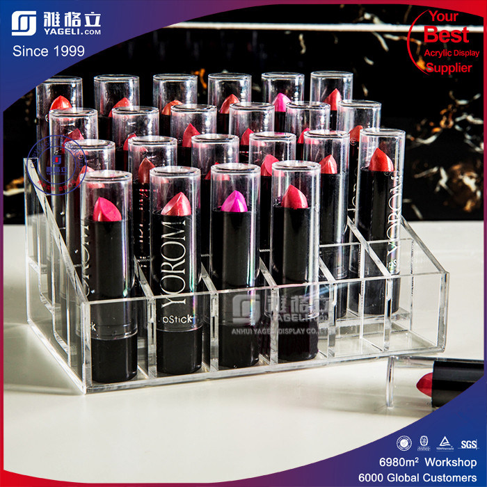 Cosmetic Makeup Organizer for Lipstick Brushes Bottles Clear Case Display Rack Holder