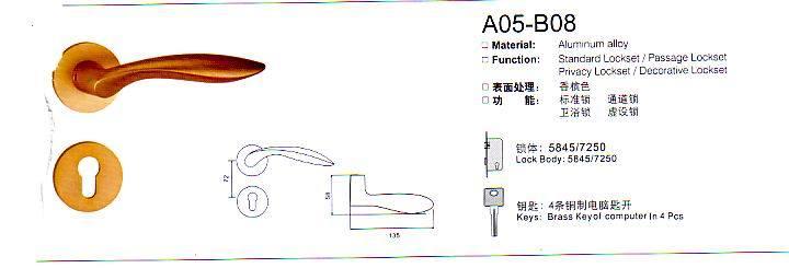 A05-B08 Aluminium Alloy Door Lock Series