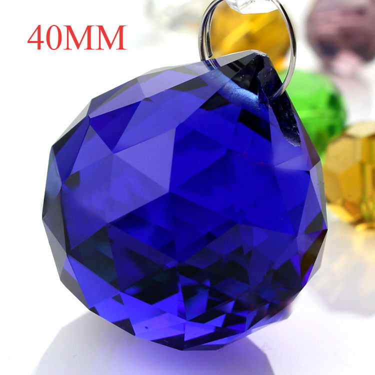 Blue Crystal Beads for Chandeliers & Crystal Balls Pendant Trimmings (KS28039)