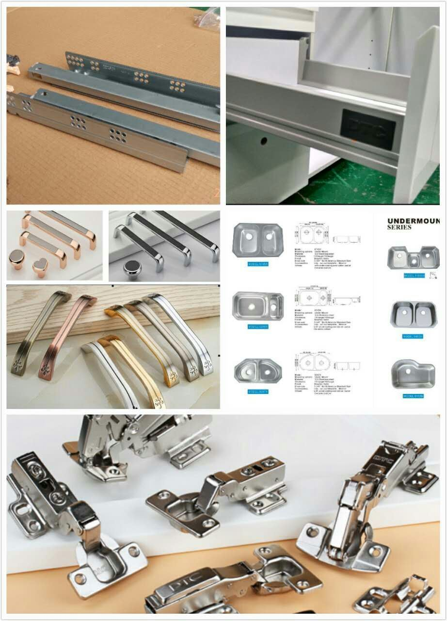 New Design White Solid Wood Kitchen Cabinet Yb1712001