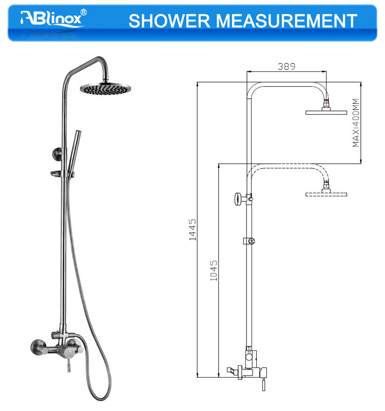 Ablinox Stainless Steel Shower Head