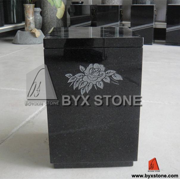 Black Granite / Marble Cemetery Urn / Cremation Urns