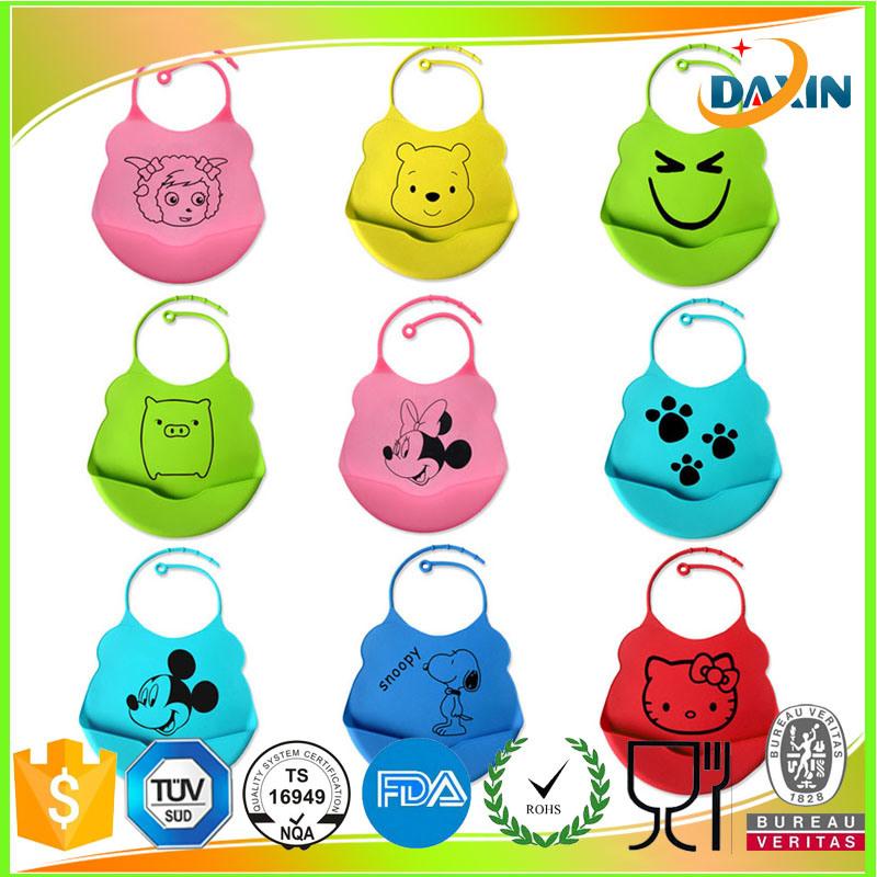 Cute Pattern Animal Design Silicone Rubber Baby Bib