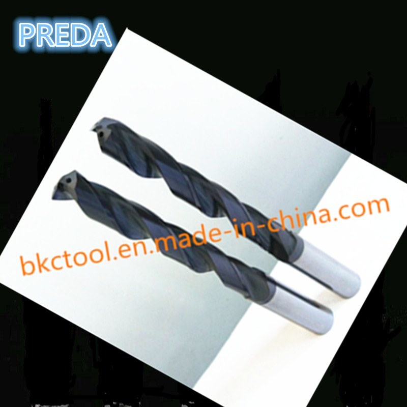 CNC HRC55 Carbide Internal Coolant Drills Power Supply