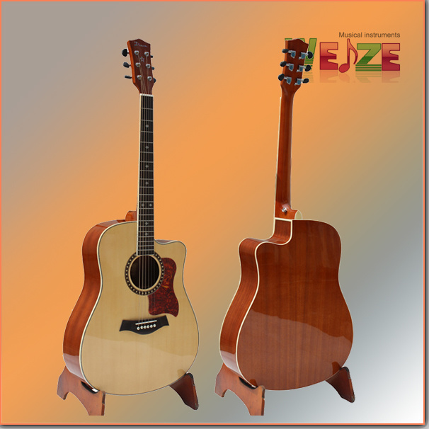 """41"""" Cutaway High Quality Spruce Top Sapele Back Acoustic Guitar"""