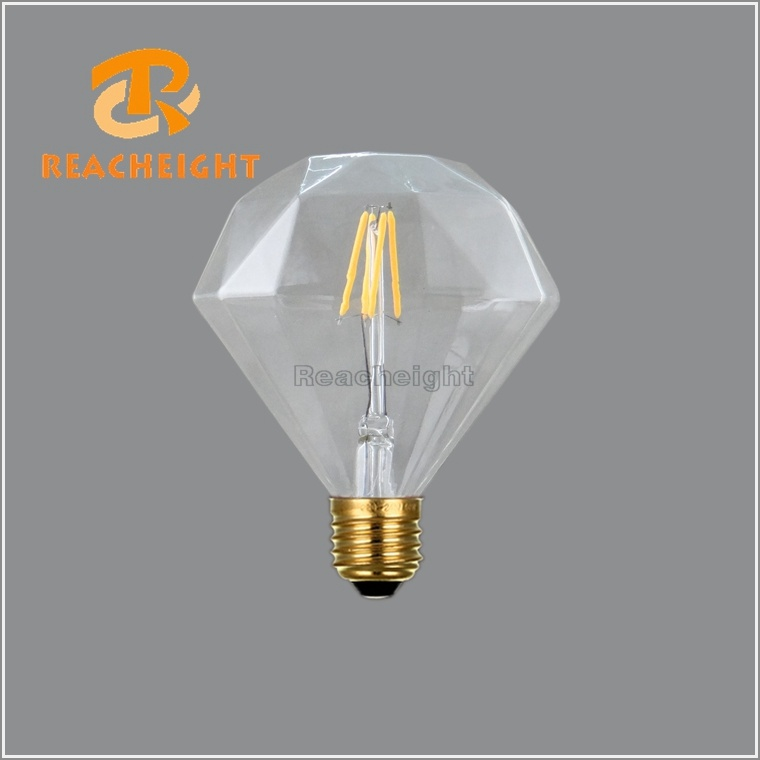 Diameter 4W Diamond LED Filament Bulbs