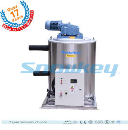 F25 2.5t/Day Snowkey Commercial Fish Processing Flake Ice Machine Manufacturer