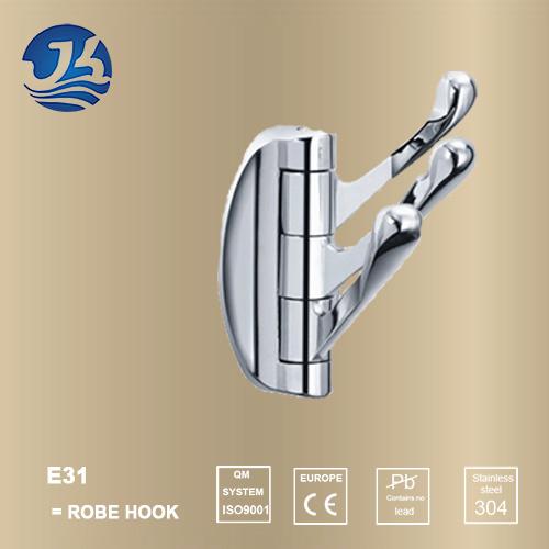 Hot Sell 304 Solid Casting Stainless Steel Bathroom Robe Hanger (E31)