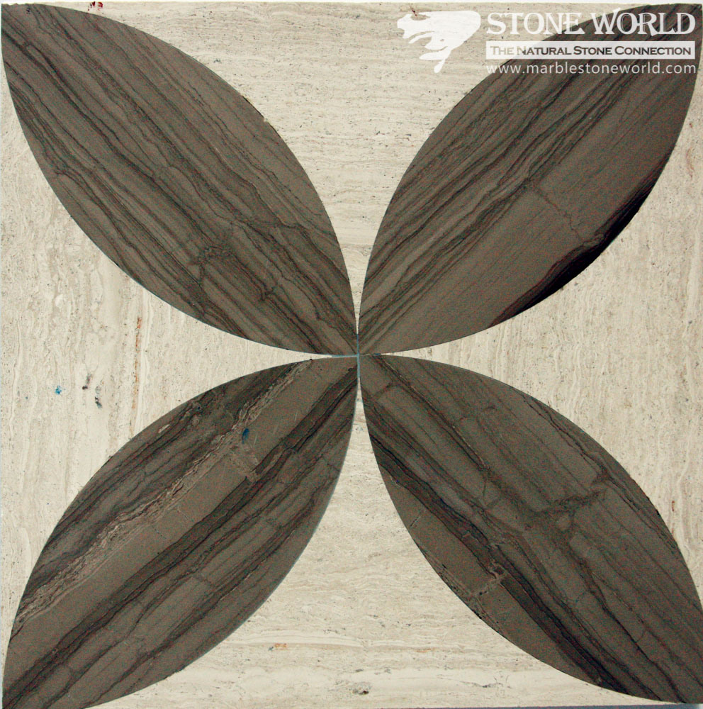 Mixed Waterjet Cutting Marble Medallion for Flooring/Paving/Lobby Tiles (mm-006)
