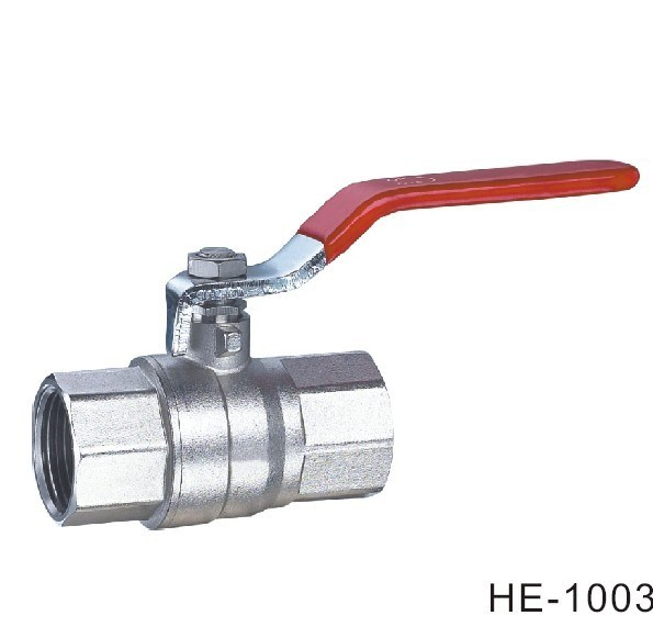 (HE-1003) Brass Ball Valve Pn16-Pn32 with Level Handle for Water, Oil