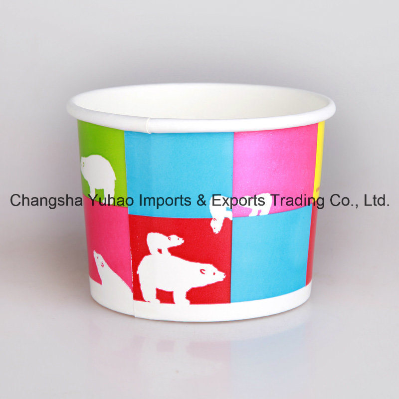 New Design Ice Cream Paper Cups with Multi Colours