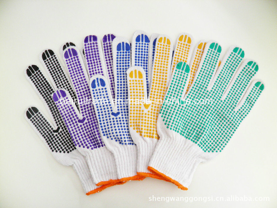 Double-Sided Plastic Work Glove for Export