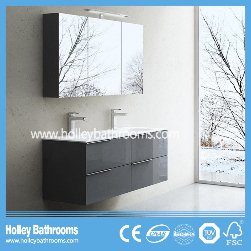 European Hot Selling Modern Bathroom Vanity with Mirror Cabinet (BF113N)