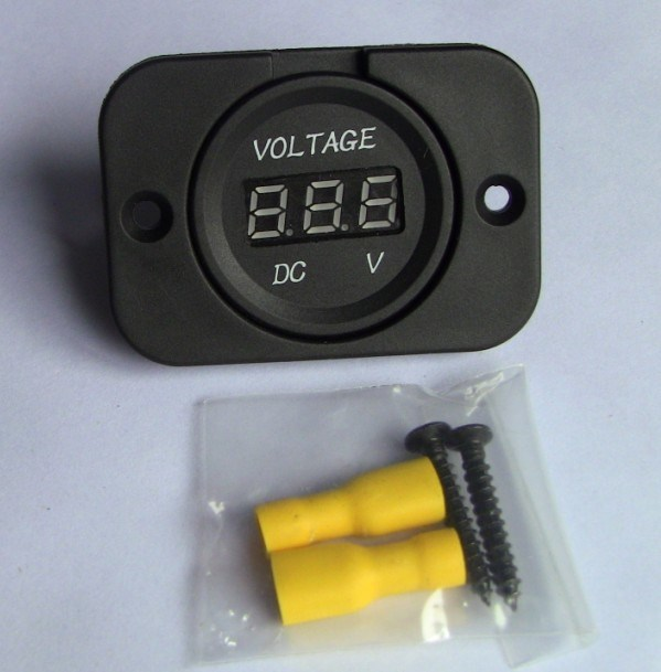 Waterproof Voltmeter for Car with Panel for Boat/Car