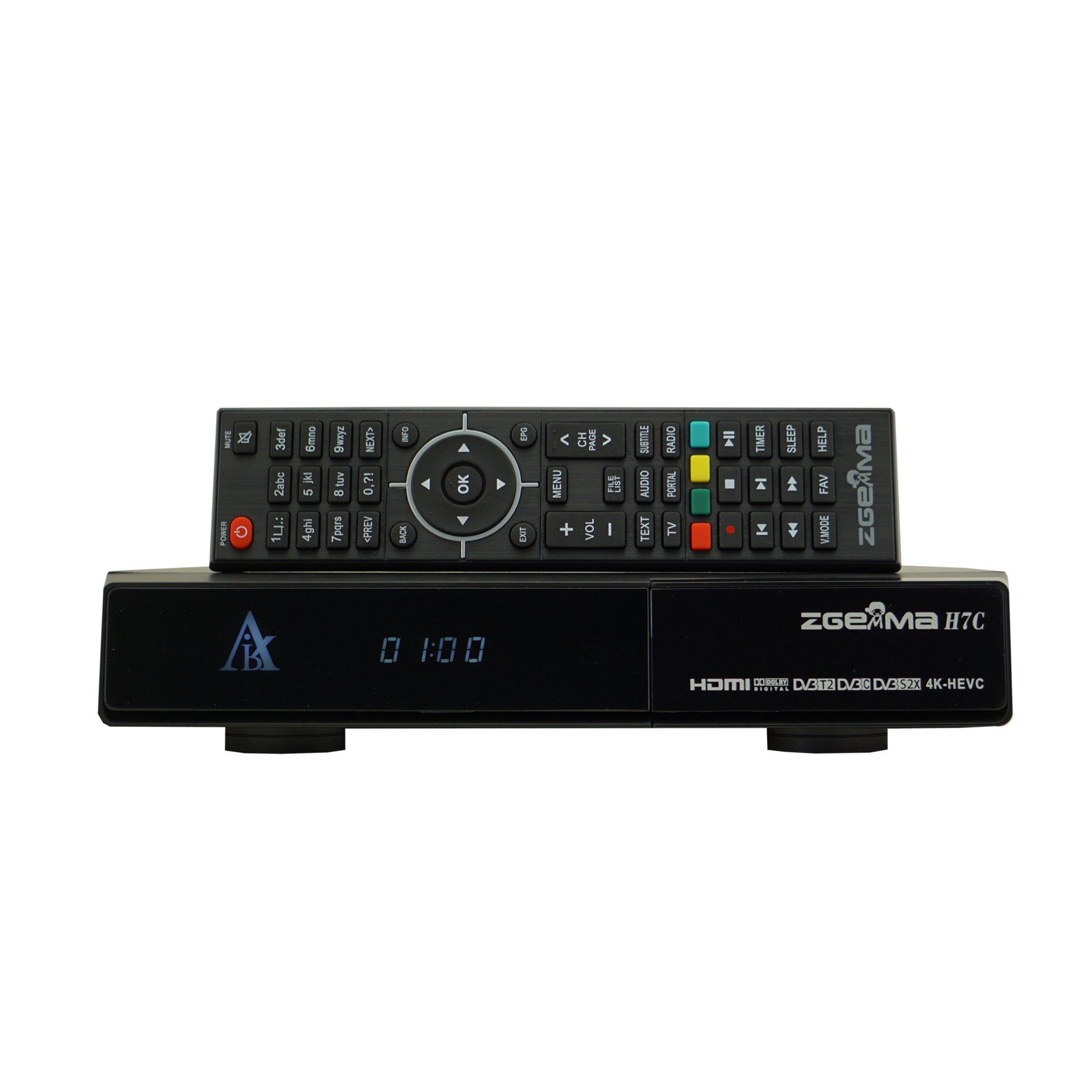 New 4K Satellite Receiver Zgemma H7c with DVB-S2X+2*DVB-T2/C Three Tuners