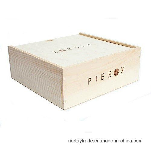 Solid Wood Pie Box Food Storage Wooden Box