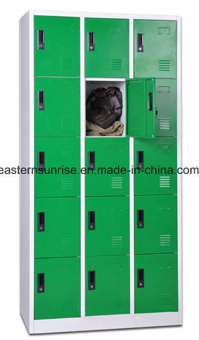 15 Door Steel Storage Wardrobe Clothes Locker
