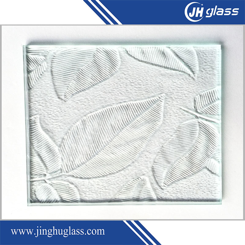 3-19mm Pattern Tempered Glass for Bathroom