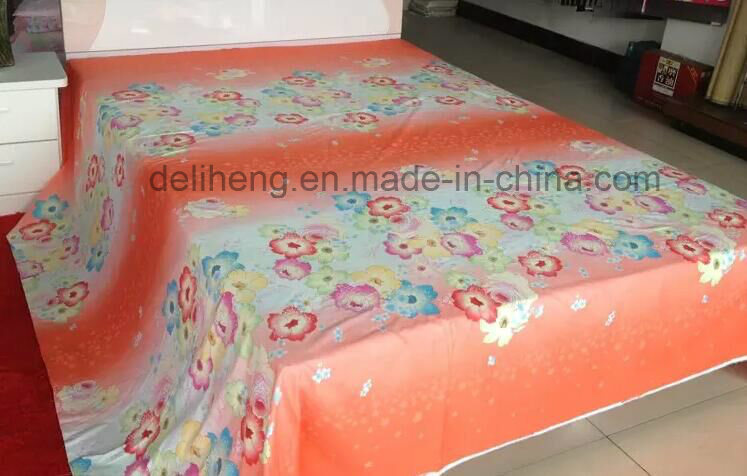 Soft Handfeeling 100% Cotton Printed Wide Width Bedsheet Fabric for Beddings