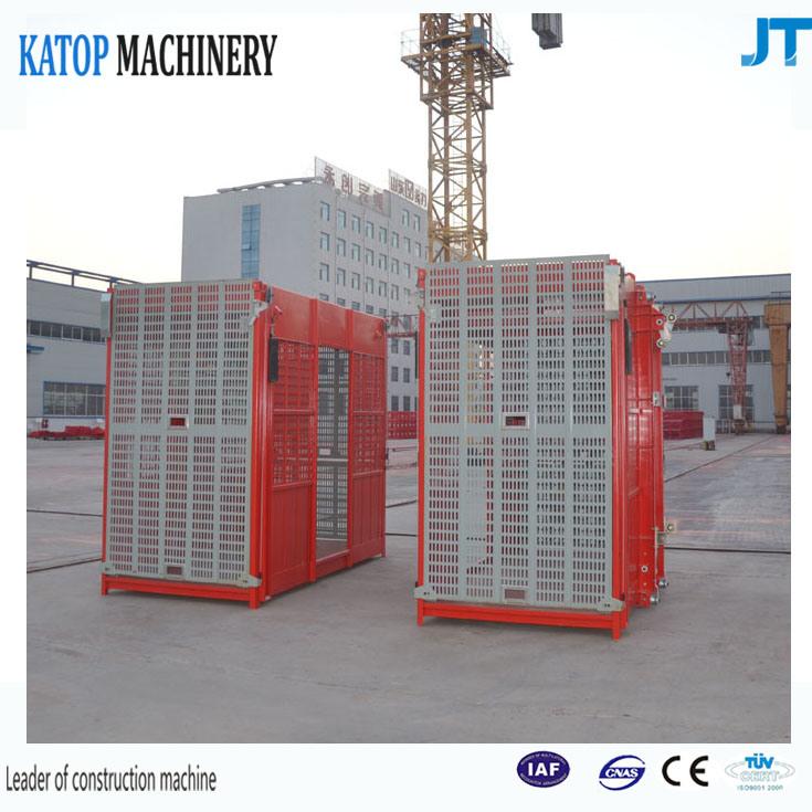Sc150/150 Building Lifter 1.5t Load Double Cage Construction Hoist