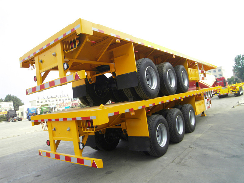 CIMC 3 Axles 40ft Flat Bed Container Semi Trailer