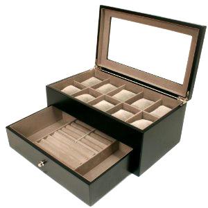 Leather Watch Case Display Storage Box for Sport Watch Stem-Winder Mechanical Watch Accessories Watchband Strap (Ys101)