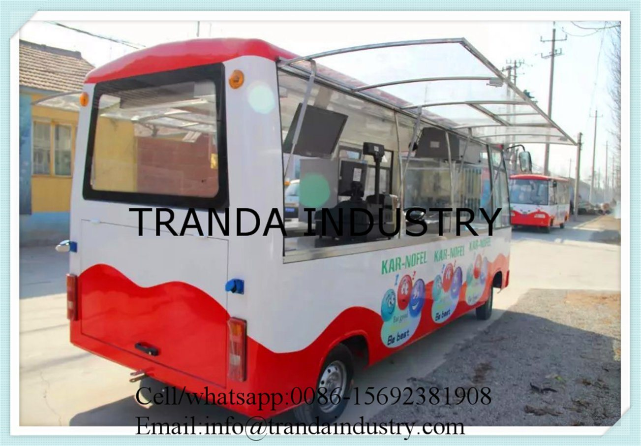 Convenient Mobile Electric Steel Catering Truck