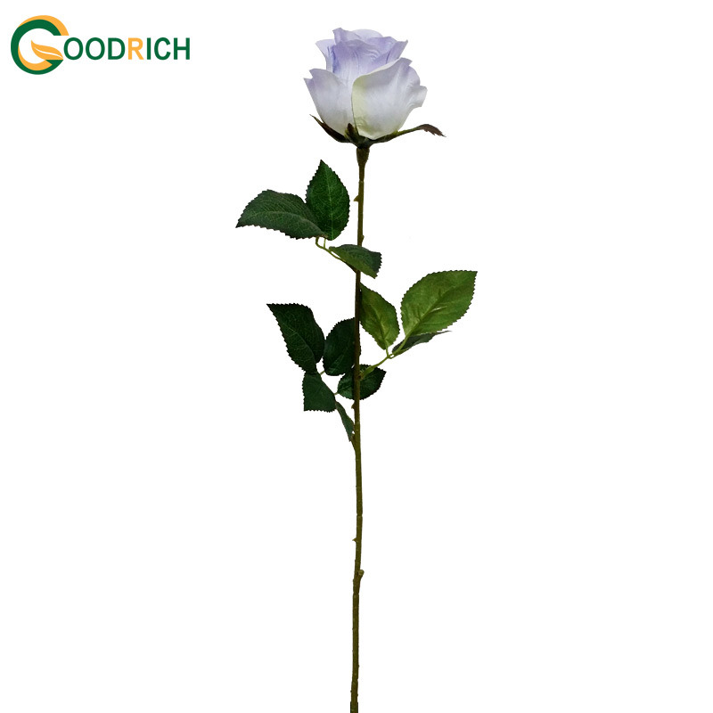 Single Stem Rose Bud Silk Flower