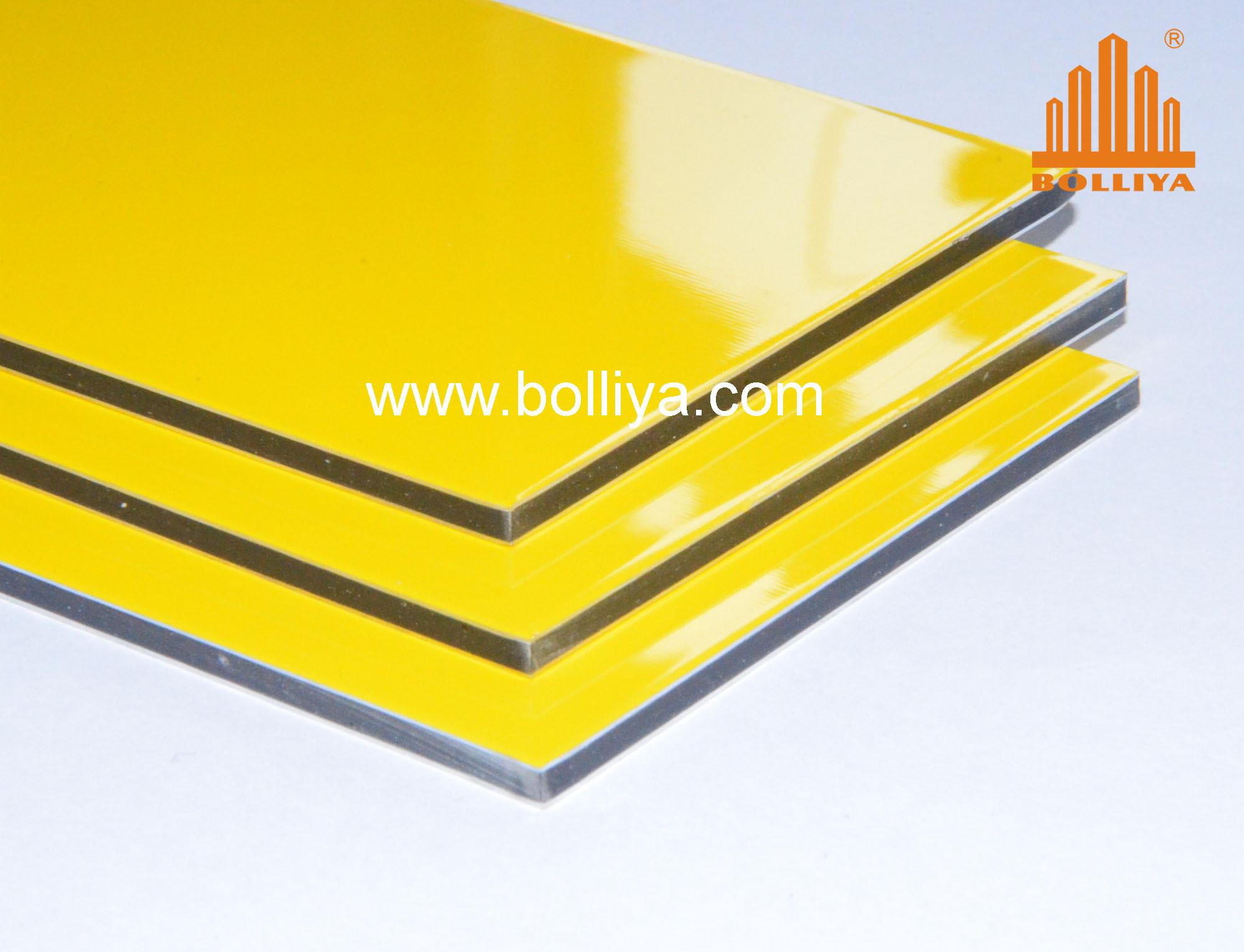 Aluminum Composite Materials / ACP Signs / Alumetal / 1023 Traffic Yellow