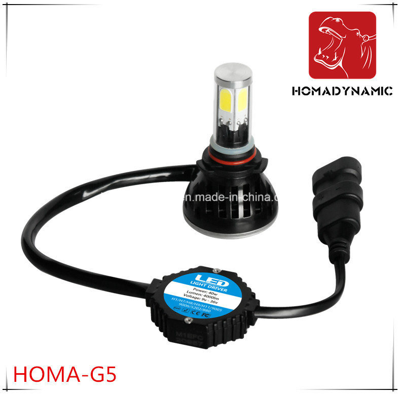 Ce FCC RoHS Ceritification G5 Car LED Headlight 9005 9006 LED Bulb 40W 80W LED Light